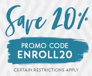 Save with promo code ENROLL20